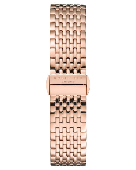 BLACK ROSE GOLD WOMENS ACCESSORIES ROSEFIELD WATCHES - QBSR-Q19BLKRG