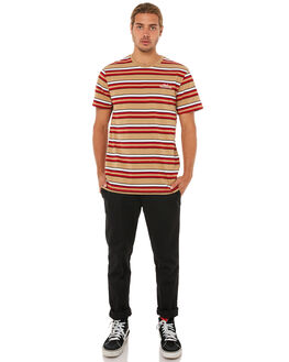 RED MENS CLOTHING HUF TEES - KN00029RED