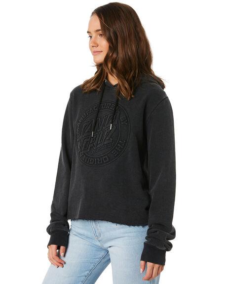 ACID BLACK WOMENS CLOTHING SANTA CRUZ JUMPERS - SC-WFC9895ACBLK