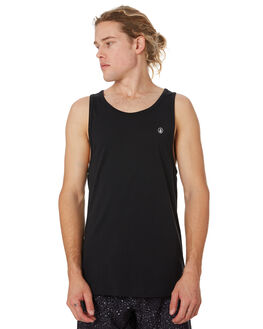 BLACK MENS CLOTHING VOLCOM SINGLETS - A0241575BLK
