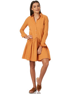BURNT ORANGE OUTLET WOMENS RUE STIIC DRESSES - SW18-30BOBORG
