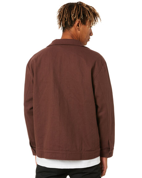 BROWN MENS CLOTHING PASS PORT JACKETS - PPDELIVERYJBRWN