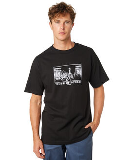BLACK MENS CLOTHING PASS PORT TEES - PPHOURBLK