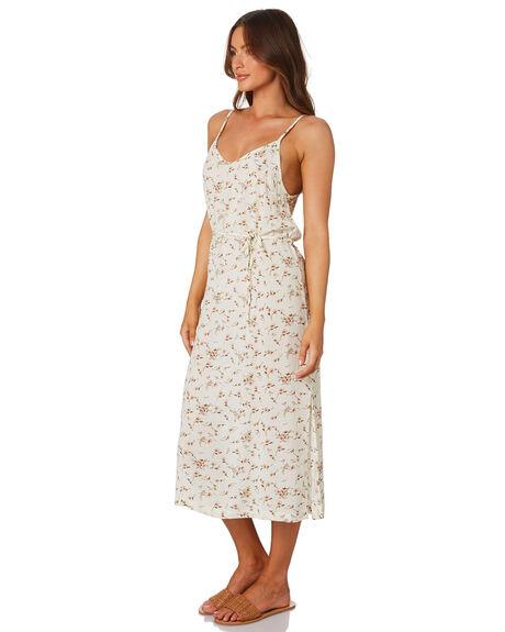 NATURAL FLORAL WOMENS CLOTHING RHYTHM DRESSES - QTM19W-DR25NAT
