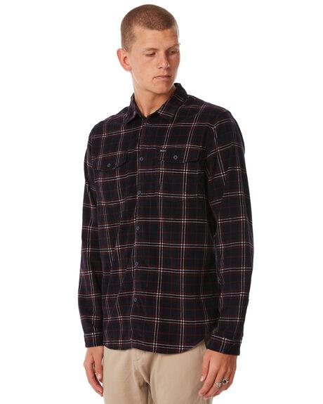 NEW NAVY MENS CLOTHING RVCA SHIRTS - R183181NNVY