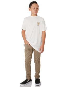 WHITE KIDS BOYS SWELL TOPS - S3193006WHITE