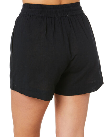 BLACK WOMENS CLOTHING SWELL SHORTS - S8211231BLACK