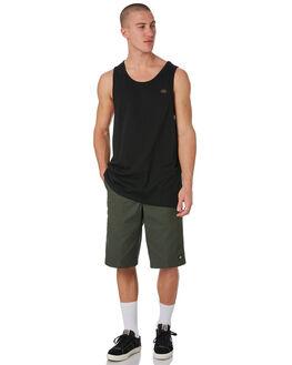 BLACK MENS CLOTHING DICKIES SINGLETS - K3180402BK