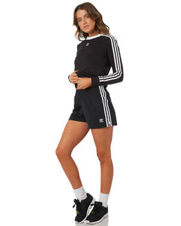 BLACK WOMENS CLOTHING ADIDAS ORIGINALS TEES - DH3183095A