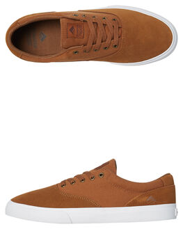 TAN MENS FOOTWEAR EMERICA SKATE SHOES - 61020000110TAN