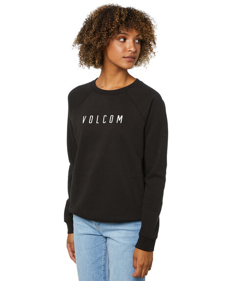 BLACK WOMENS CLOTHING VOLCOM JUMPERS - B4612075BLK