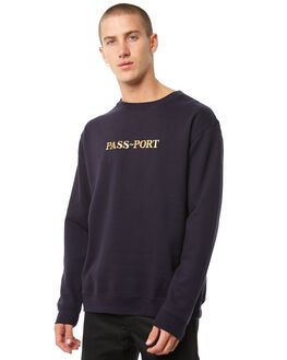 NAVY MENS CLOTHING PASS PORT JUMPERS - R23GOLDEMBNAVY