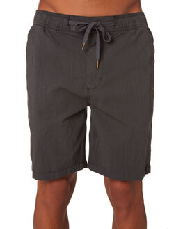 WASHED BLACK MENS CLOTHING RIP CURL SHORTS - CWABA98264