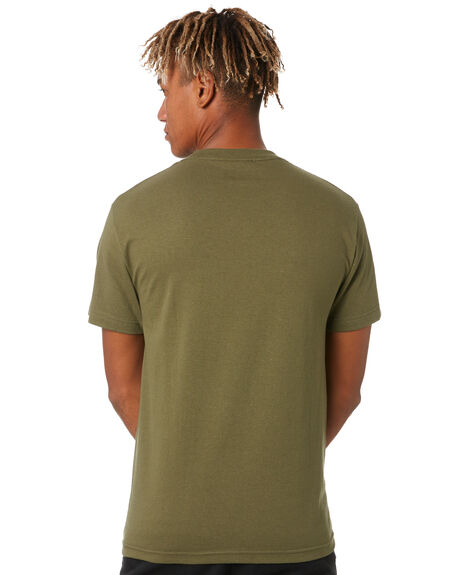 OLIVE MENS CLOTHING HUF TEES - TS01180OLIVE