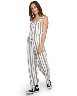 ARMY DRAB WOMENS CLOTHING RVCA PLAYSUITS + OVERALLS - RV-R291755-A90