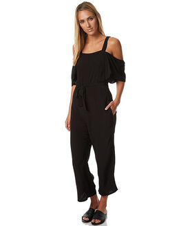 BLACK WOMENS CLOTHING MINKPINK PLAYSUITS + OVERALLS - MP1610471BLK
