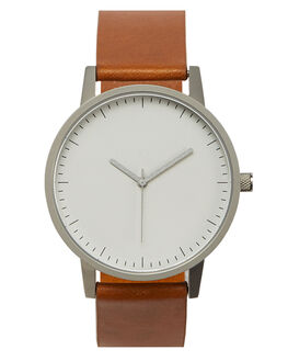 TAN SILVER WHITE MENS ACCESSORIES SIMPLE WATCH CO WATCHES - SW01-09BLKEM