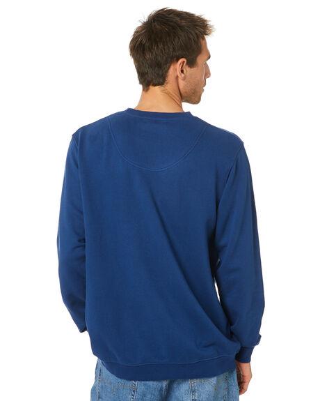 WASHED INDIGO MENS CLOTHING MR SIMPLE JUMPERS - M-08-31-33WSHIN