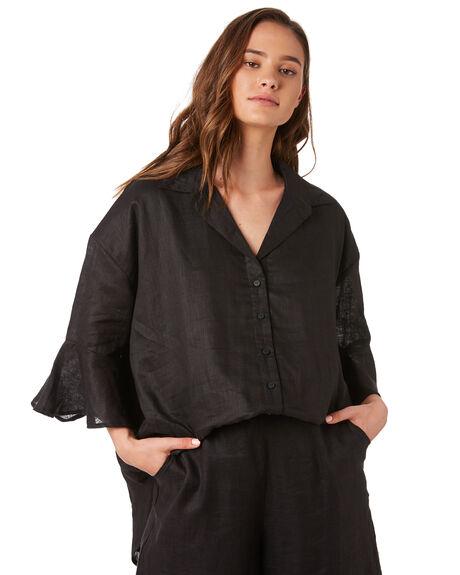BLACK WOMENS CLOTHING ZULU AND ZEPHYR FASHION TOPS - ZZ2886BLACK