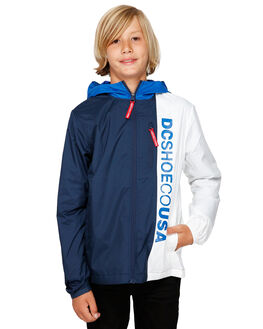 NAUTICAL BLUE KIDS BOYS DC SHOES JUMPERS + JACKETS - EDBJK03043-BQR0