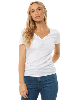 WHITE WOMENS CLOTHING SWELL TEES - S8182004WHITE