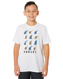 WHITE KIDS BOYS HURLEY TOPS - AQ8588-100