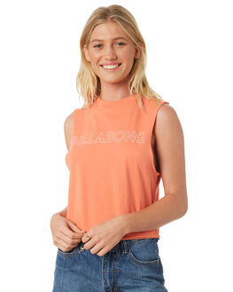 CAMELLIA WOMENS CLOTHING BILLABONG SINGLETS - 6581181CAM