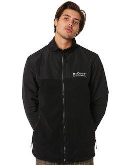 BLACK MENS CLOTHING STUSSY JUMPERS - ST096200BLACK
