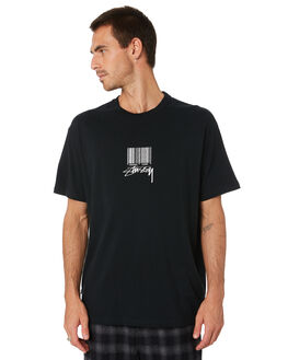BLACK MENS CLOTHING STUSSY TEES - ST005003BLK