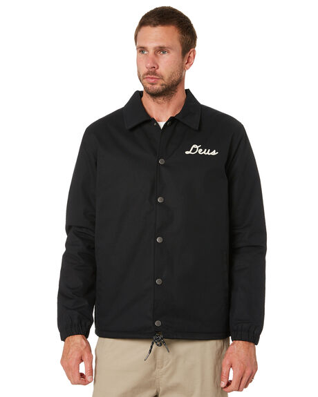BLACK MENS CLOTHING DEUS EX MACHINA JACKETS - DMW2061248BLK