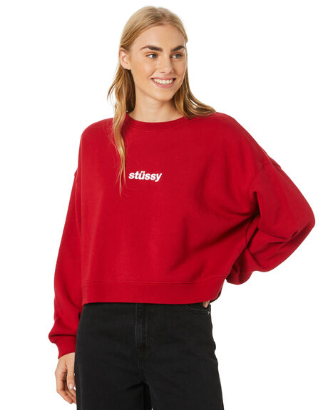 CHILLI PEPPER WOMENS CLOTHING STUSSY JUMPERS - ST106313CHLPR