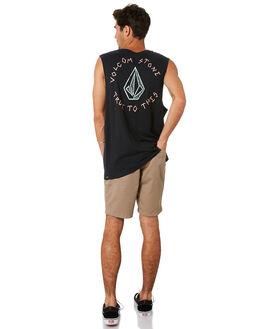 BLACK MENS CLOTHING VOLCOM SINGLETS - A4501918BLK