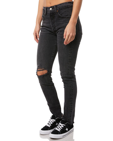 WELL WORN  BLACK OUTLET WOMENS LEVI'S JEANS - 29502-0029WWB