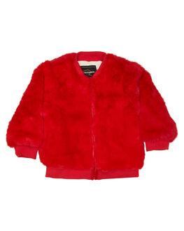 RED KIDS GIRLS ROCK YOUR KID JUMPERS + JACKETS - TGJ195-BRRED