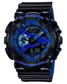 BLACK BLUE MENS ACCESSORIES G SHOCK WATCHES - GA110LPA-1ABLKBU