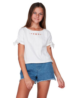 WHITE KIDS GIRLS BILLABONG TOPS - BB-5507093-WHT