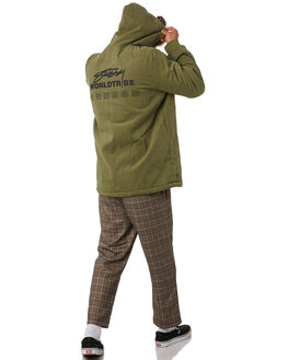 FLIGHT GREEN CREAM MENS CLOTHING STUSSY JACKETS - ST096502FLGRN