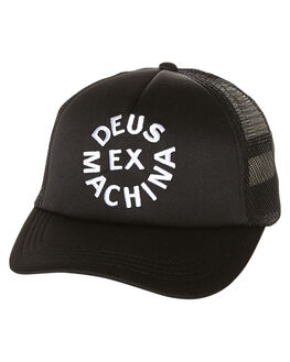 BLACK MENS ACCESSORIES DEUS EX MACHINA HEADWEAR - DMA57994BLK