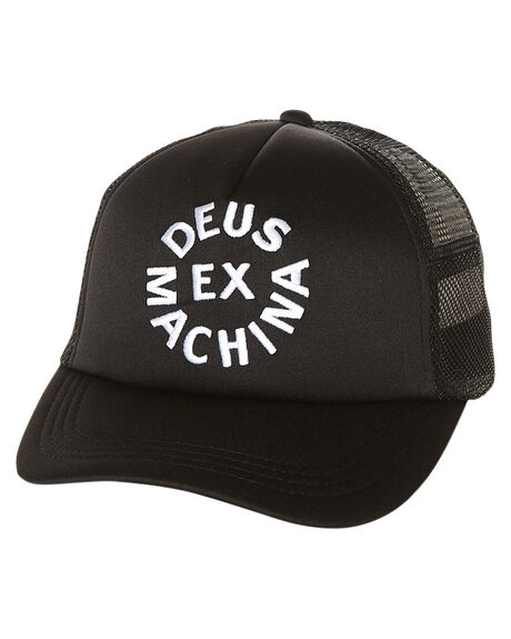 Deus Ex Machina Circle Logo Trucker Cap Black Surfstitch