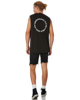 WORN BLACK MENS CLOTHING WRANGLER SINGLETS - 901626082