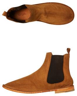 TAN SUEDE MENS FOOTWEAR URGE BOOTS - URG17238TSDE