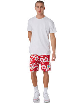 RED MENS CLOTHING OKANUI BOARDSHORTS - OKBOHBRDRED