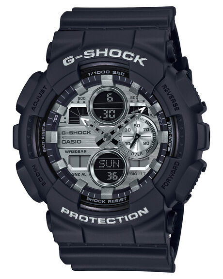 BLACK SILVER MENS ACCESSORIES G SHOCK WATCHES - GA140GM-1A1BSIL