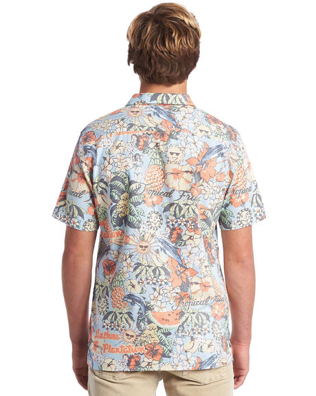 AIRY BLUE MENS CLOTHING QUIKSILVER SHIRTS - EQYWT03915-BFA6