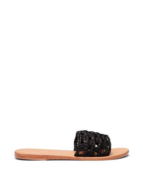 BLACK WOMENS FOOTWEAR JUST BECAUSE SLIDES - SOLE-JB0260BLK