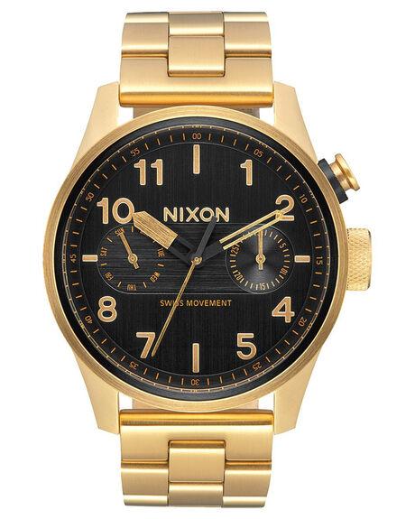 ALL GOLD BLACK MENS ACCESSORIES NIXON WATCHES - A976-510