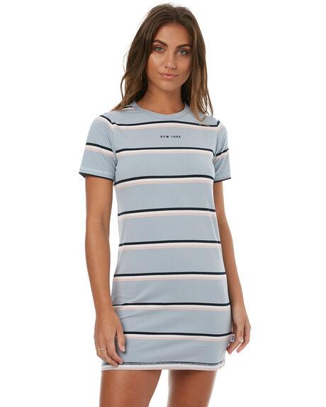BLUE STRIPE WOMENS CLOTHING RPM DRESSES - 7HWD01BBLUE