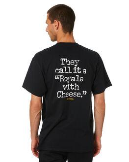 BLACK MENS CLOTHING HUF TEES - TS01312-BLK