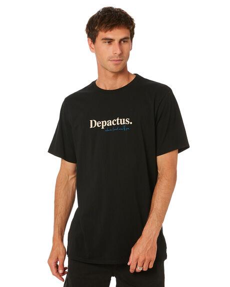 BLACK MENS CLOTHING DEPACTUS TEES - D5211005BLK
