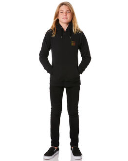 BLACK YELLOW KIDS BOYS SWELL JUMPERS - S3184441BLKYE